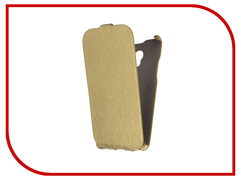 Аксессуар Чехол Meizu M2 Note Cojess Ultra Slim Экокожа Флотер Gold<br>