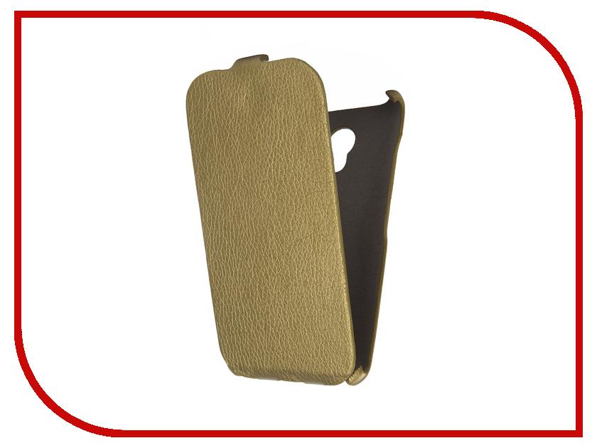 Аксессуар Чехол Meizu M2 Mini Cojess Ultra Slim Экокожа Флотер Gold