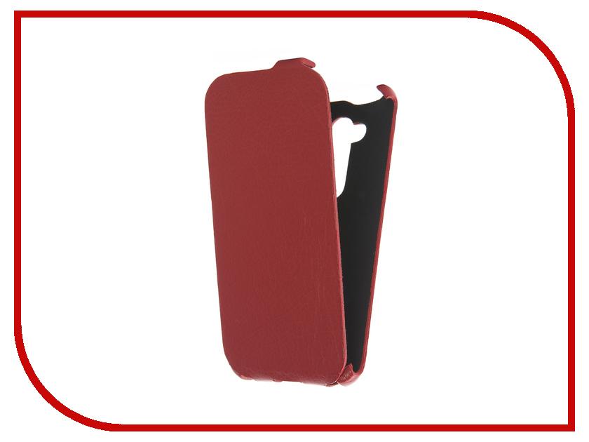 Аксессуар Чехол ASUS ZenFone Go ZB452KG Cojess Ultra Slim Экокожа Флотер Red<br>
