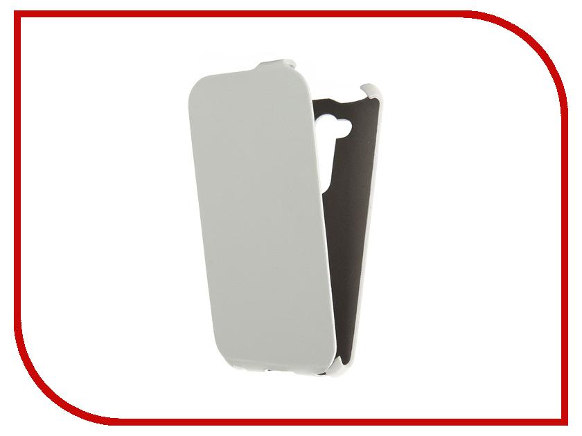 Аксессуар Чехол ASUS ZenFone Go ZB452KG Cojess Ultra Slim Экокожа Флотер White<br>
