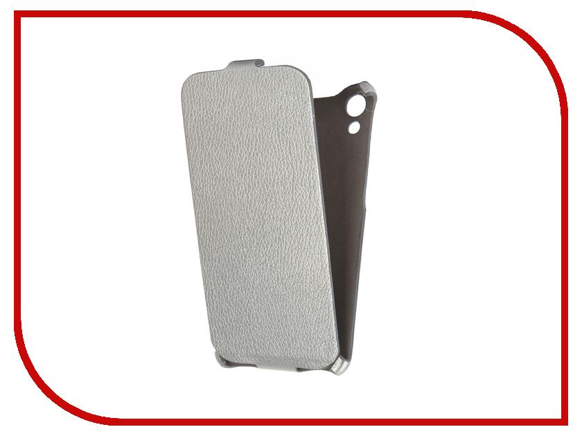 Аксессуар Чехол HTC Desire 728 Cojess Ultra Slim Экокожа Флотер Silver<br>