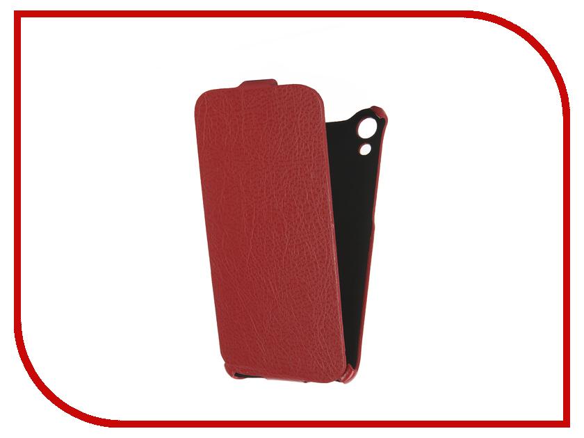 Аксессуар Чехол HTC Desire 728 Cojess Ultra Slim Экокожа Флотер Red