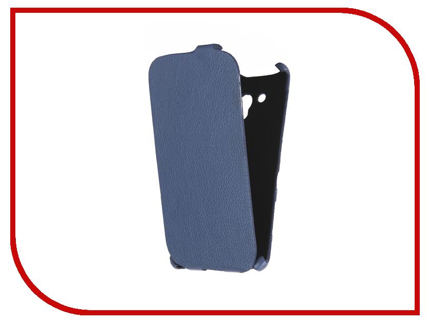 Аксессуар Чехол Cojess for Alcatel OneTouch 5025D POP 3 Ultra Slim Экокожа Флотер Blue<br>