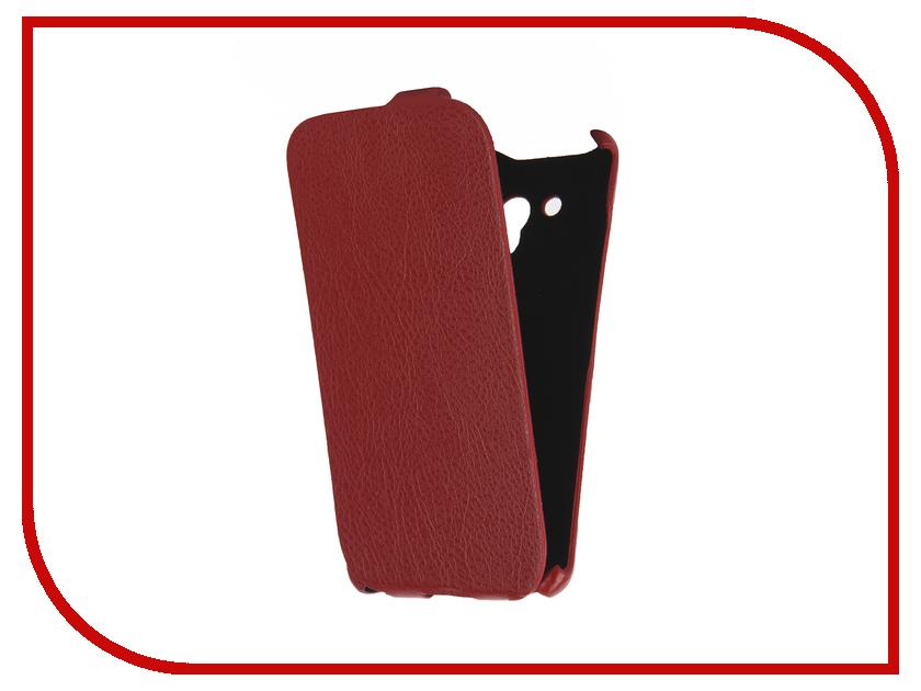 Аксессуар Чехол Alcatel OneTouch 5025D POP 3 Cojess Ultra Slim Экокожа Флотер Red<br>