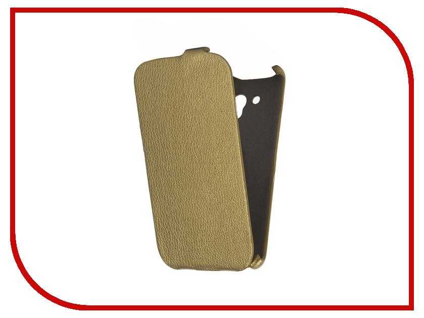 все цены на  Аксессуар Чехол Alcatel OneTouch 5025D POP 3 Cojess Ultra Slim Экокожа Флотер Gold  онлайн