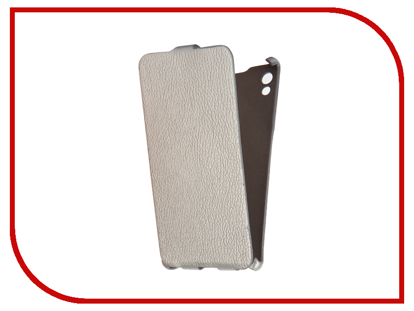 Аксессуар Чехол Sony Xperia Z5 Cojess Ultra Slim Экокожа Флотер Silver