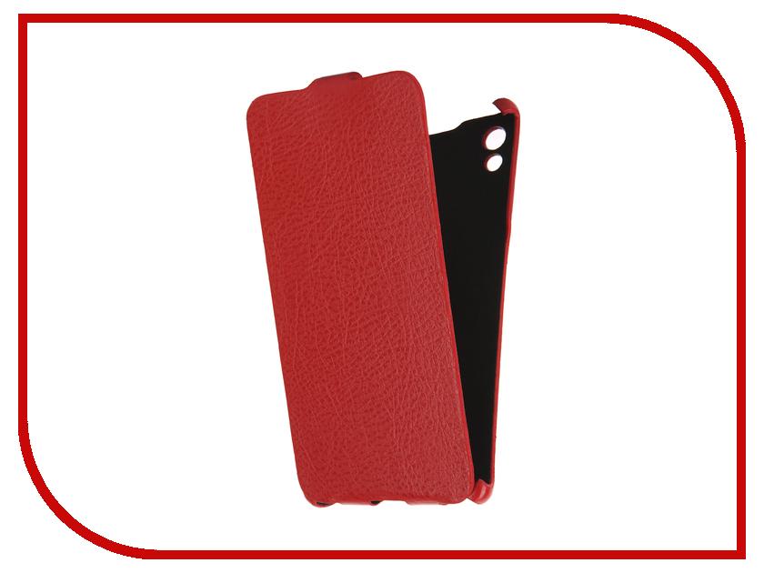 Аксессуар Чехол Sony Xperia Z5 Cojess Ultra Slim Экокожа Флотер Red