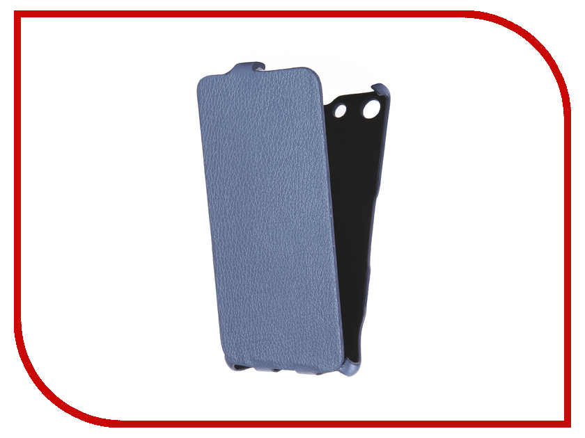 Аксессуар Чехол Sony Xperia M5 Cojess Ultra Slim Экокожа Флотер Blue<br>