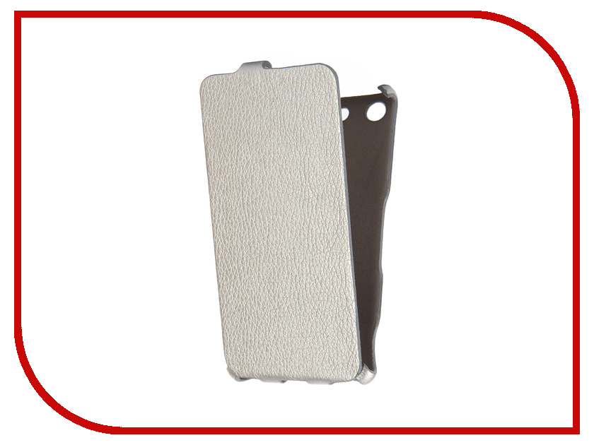 Аксессуар Чехол Sony Xperia M5 Cojess Ultra Slim Экокожа Флотер Silver