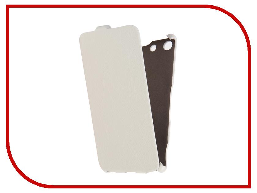 Аксессуар Чехол Sony Xperia M5 Cojess Ultra Slim Экокожа Флотер White