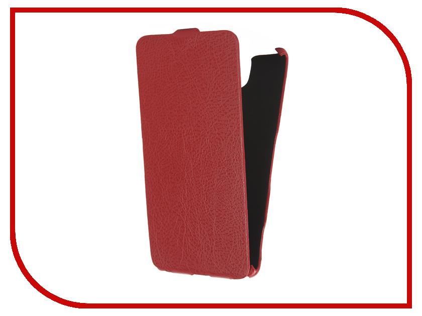 Аксессуар Чехол Sony Xperia C5 Ultra Cojess Ultra Slim Экокожа Флотер Red аксессуар чехол sony xperia c5 ultra activ black mat 52447