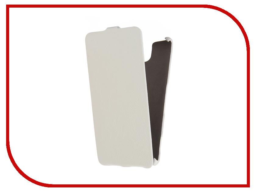 Аксессуар Чехол Sony Xperia C5 Ultra Cojess Ultra Slim Экокожа Флотер White