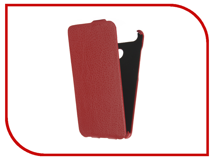Аксессуар Чехол Huawei P9 Single sim Cojess Ultra Slim Экокожа Флотер Red<br>