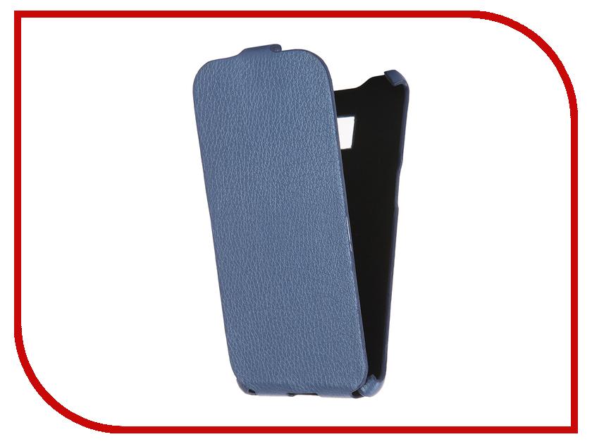 Аксессуар Чехол Cojess for Samsung Galaxy S7 Edge SM-G935F Ultra Slim Экокожа Флотер Blue<br>