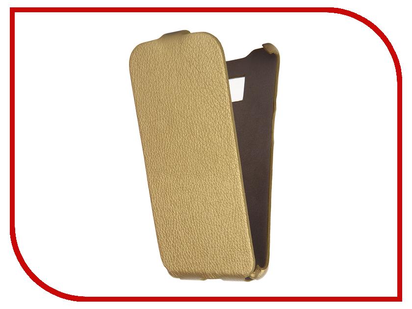Аксессуар Чехол Cojess for Samsung Galaxy S7 Edge SM-G935F Ultra Slim Экокожа Флотер Gold<br>