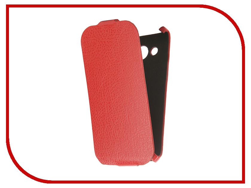 Аксессуар Чехол Samsung Galaxy J5 2016 Cojess Ultra Slim Экокожа Флотер Red