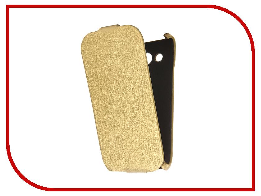 Аксессуар Чехол Samsung Galaxy J5 2016 Cojess Ultra Slim Экокожа Флотер Gold<br>