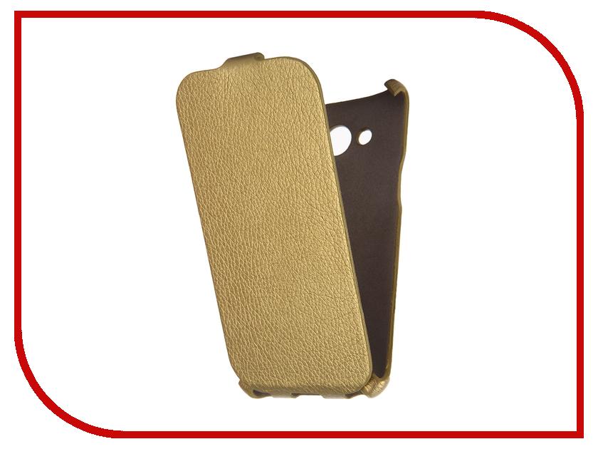 Аксессуар Чехол Samsung Galaxy J3 2016 Cojess Ultra Slim Экокожа Флотер Gold<br>