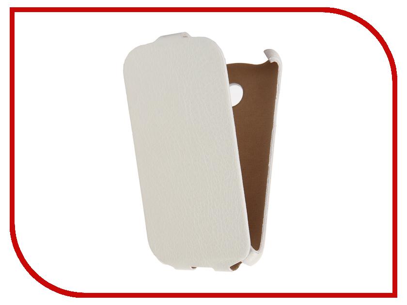 Аксессуар Чехол Samsung Galaxy J1 mini 2016 Cojess Ultra Slim Экокожа Флотер White