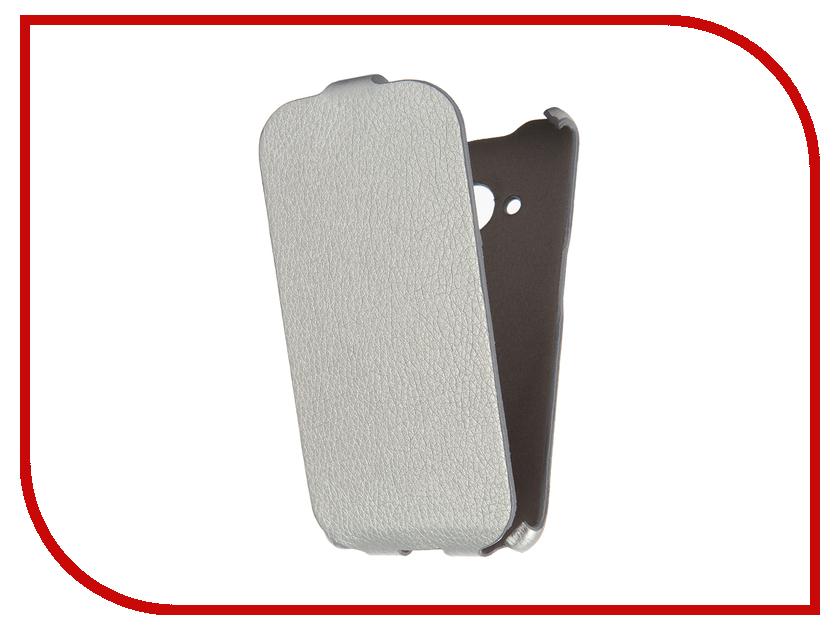Аксессуар Чехол Samsung Galaxy J1 2016 Cojess Ultra Slim Экокожа Флотер Silver