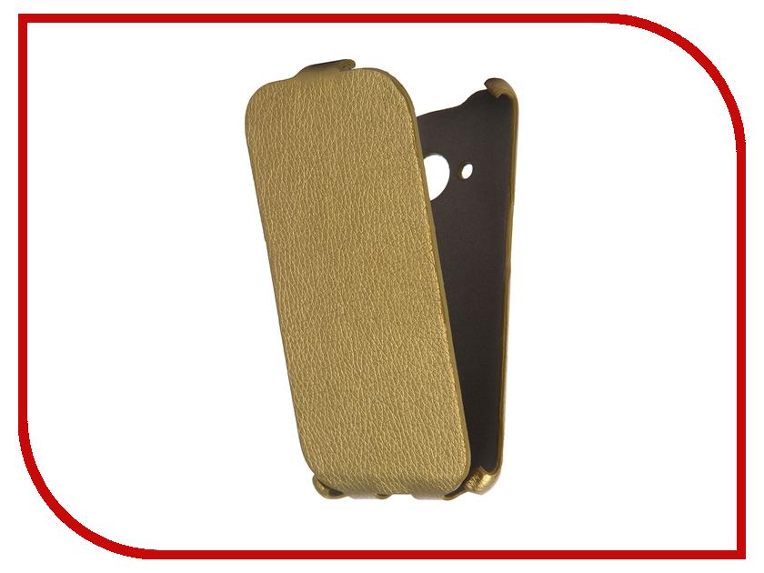 Аксессуар Чехол Samsung Galaxy J1 2016 Cojess Ultra Slim Экокожа Флотер Gold