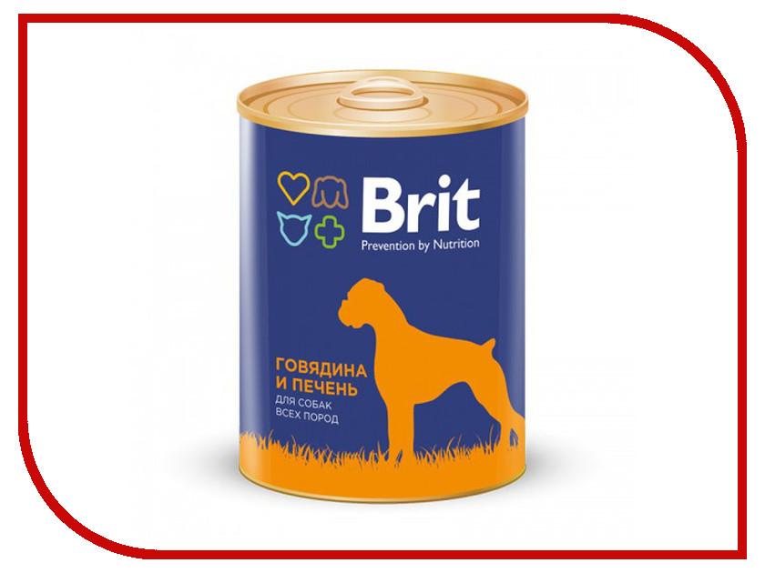 Корм Brit говядина и печень 850g для собак 9273