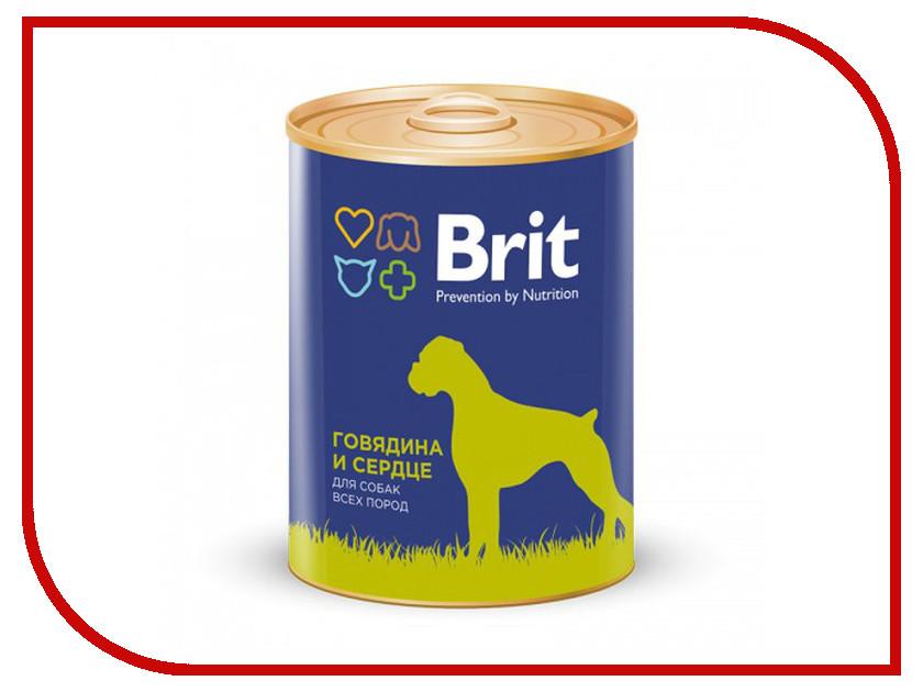 Корм Brit говядина и сердце 850g для собак 9297<br>
