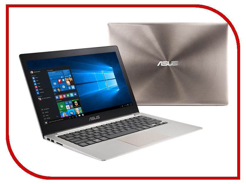 Ноутбук ASUS Zenbook UX303UA-R4259T 90NB08V1-M04150 (Intel Core i3-6100U 2.3 GHz/4096Mb/500Gb/No ODD/Intel HD Graphics/Wi-Fi/Cam/13.3/1920x1080/Windows 10 64-bit) 378908<br>