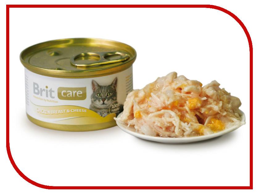 Корм Brit Chicken Breast&Cheese 80g для кошек 100059/3018