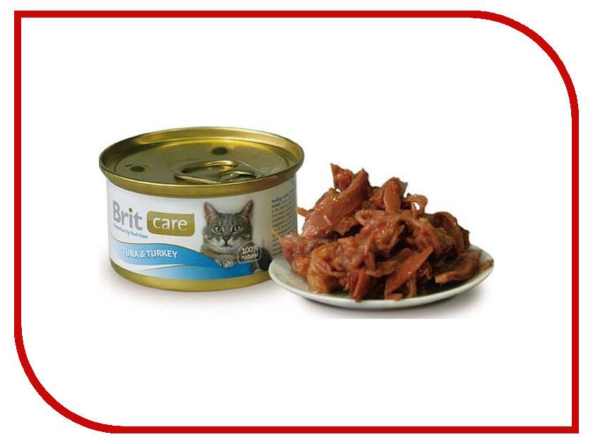 Корм Brit Tuna&Turkey 80g для кошек 100063/3056