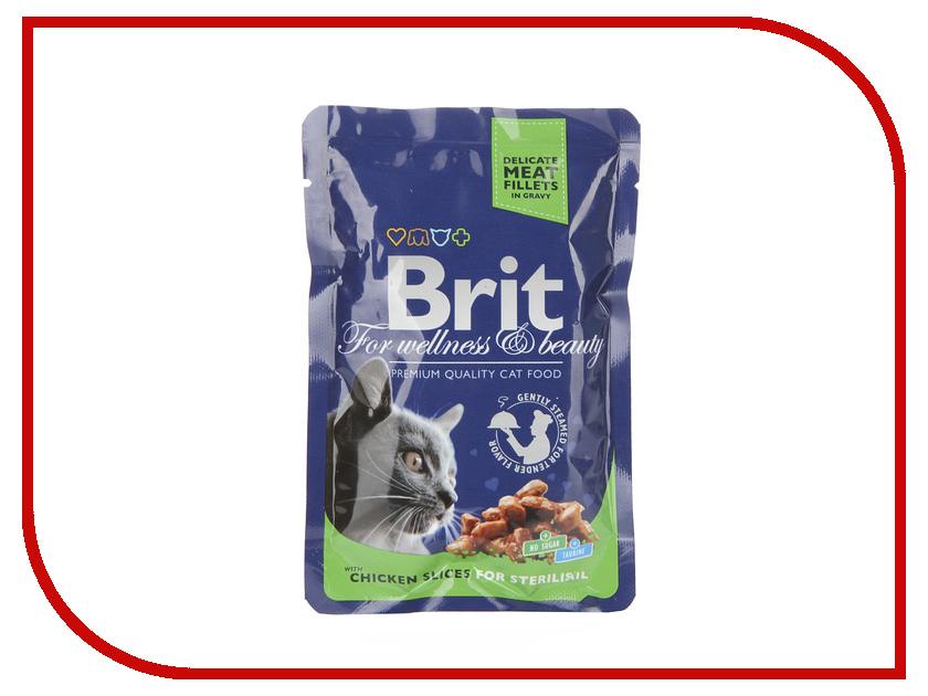 Корм Brit Chicken 100g для кошек 100310/6323