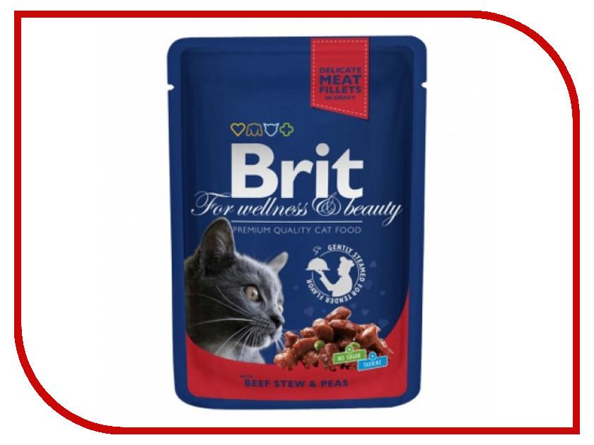 Корм Brit Говядина и горошек 100g для кошек 100305/6279