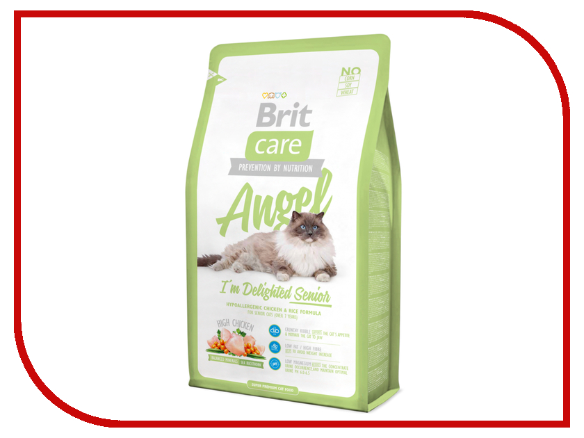 Корм Brit Care Cat Angel Delighted Senior 0.4kg для кошек 132608/5807 сухой корм brit care cat monty indoor для кошек живущих в квартире 7кг