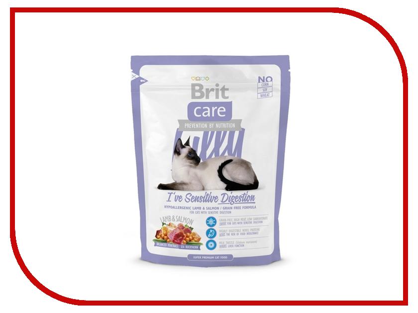 Корм Brit Care Cat Lilly Sensitive Digestion 0.4kg для кошек 132617/5593 сухой корм brit care cat monty indoor для кошек живущих в квартире 7кг