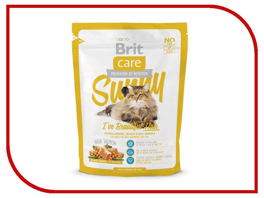 Корм Brit Care Cat Sunny Beautiful Hair 0.4kg для кошек 132620/5623<br>