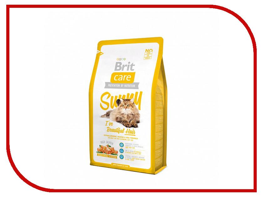 Корм Brit Care Cat Sunny Beautiful Hair 7kg для кошек 132618/5609 сухой корм brit care cat monty indoor для кошек живущих в квартире 7кг