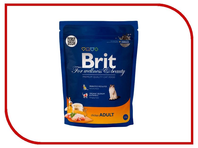 Корм Brit Premium Cat Adult Chicken 0.3kg для кошек 123202/3834<br>