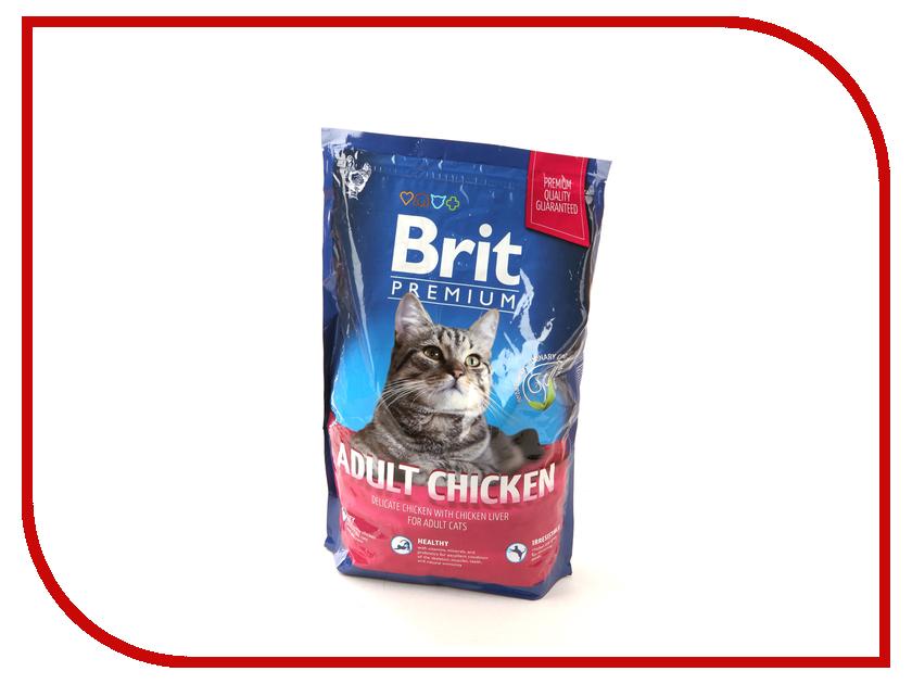 Корм Brit Premium Cat Adult Chicken 1.5kg для кошек 123216/3810<br>