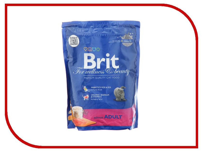 Корм Brit Premium Cat Adult Salmon 0.3kg для кошек 110105/3865<br>