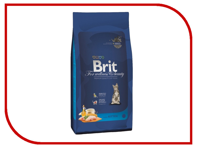 Корм Брит Premium для котят Курица в лососевом соусе 800g корм наша марка пауч с телятной в соусе 100г для котят 50625 1628