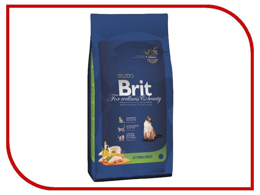 Корм Brit Premium Cat Sterilized 1.5kg для котов 110402/3902<br>