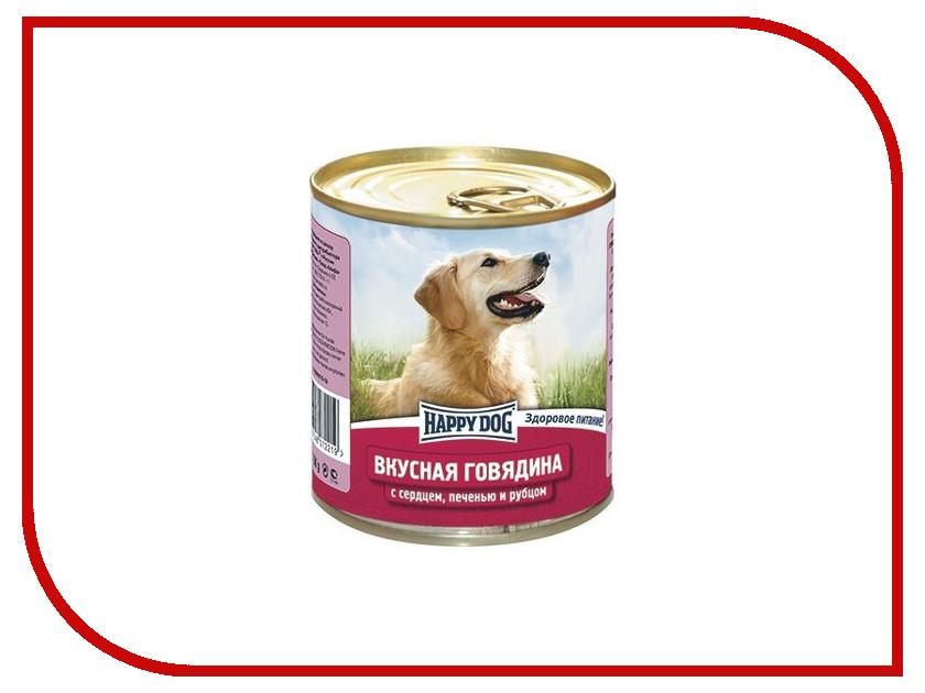 Корм Happy Dog Говядина с сердцем 750g 72219<br>