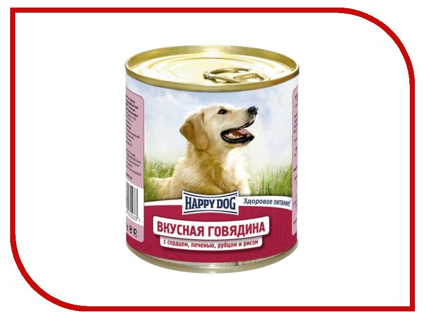 Корм Happy Dog Говядина с сердцем и рисом 750g 72233<br>
