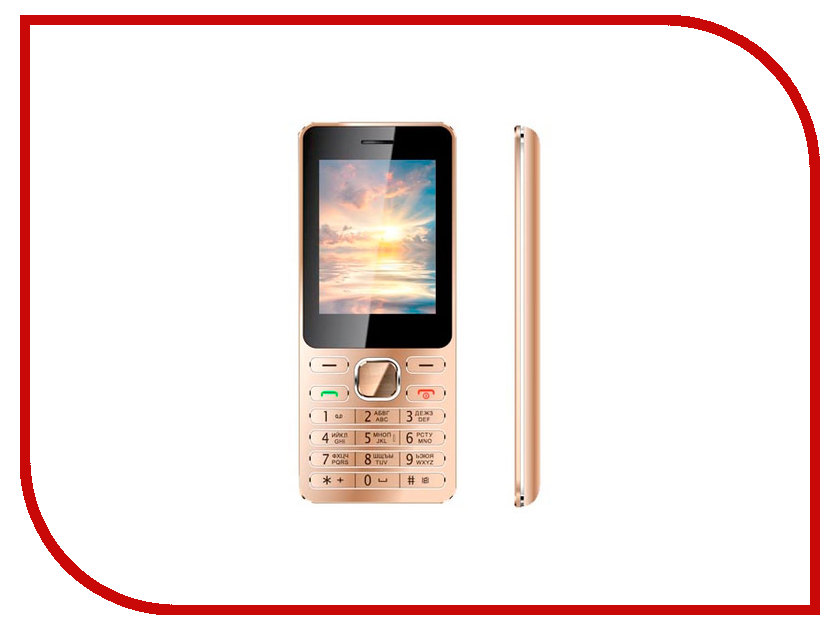 Сотовый телефон Vertex D508 Gold Metal<br>