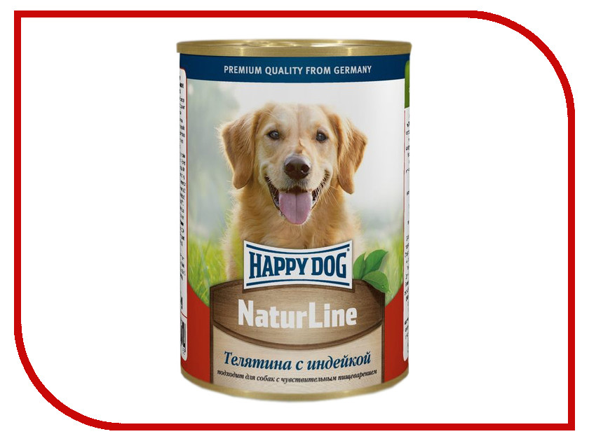 Корм Happy Dog Телятина/Индейка 400g 71458