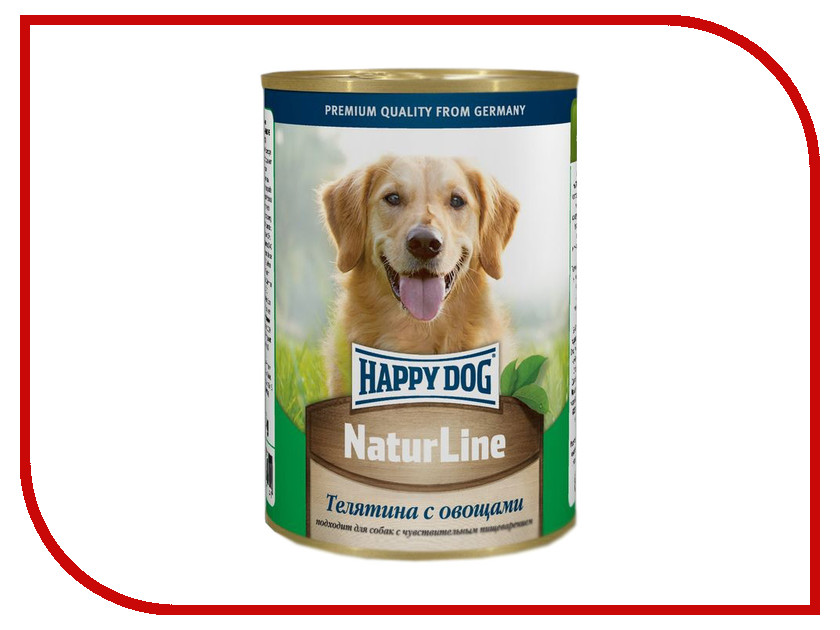 Корм Happy Dog Телятина/Овощи 400g 71441
