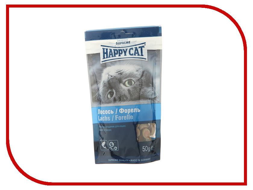 Корм Happy Cat Лакомое угощение Лосось/Форель 50g 190110