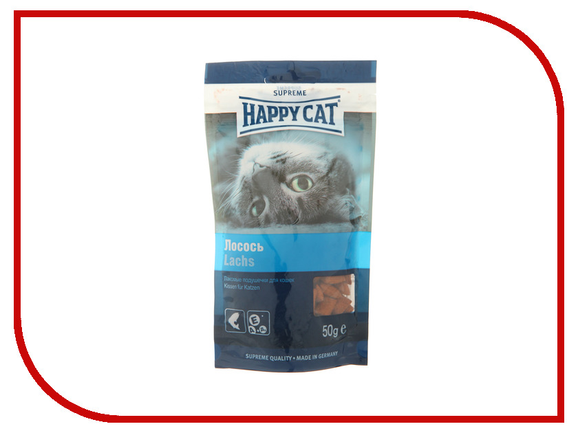Корм Happy Cat лакомые подушечки Лосось 50g 190109<br>
