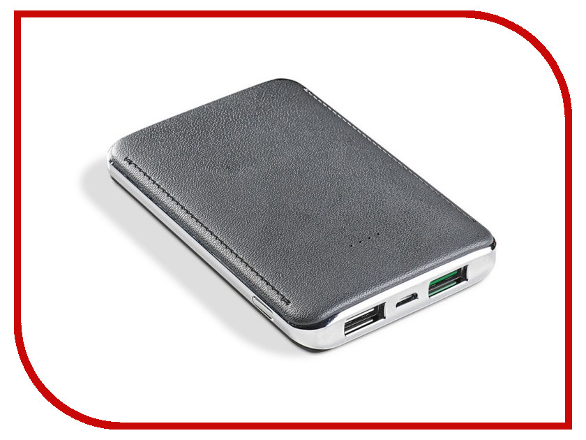 Аккумулятор Celly Power Bank 5000 mAh 2.4A Silver PB5000TURBOSV