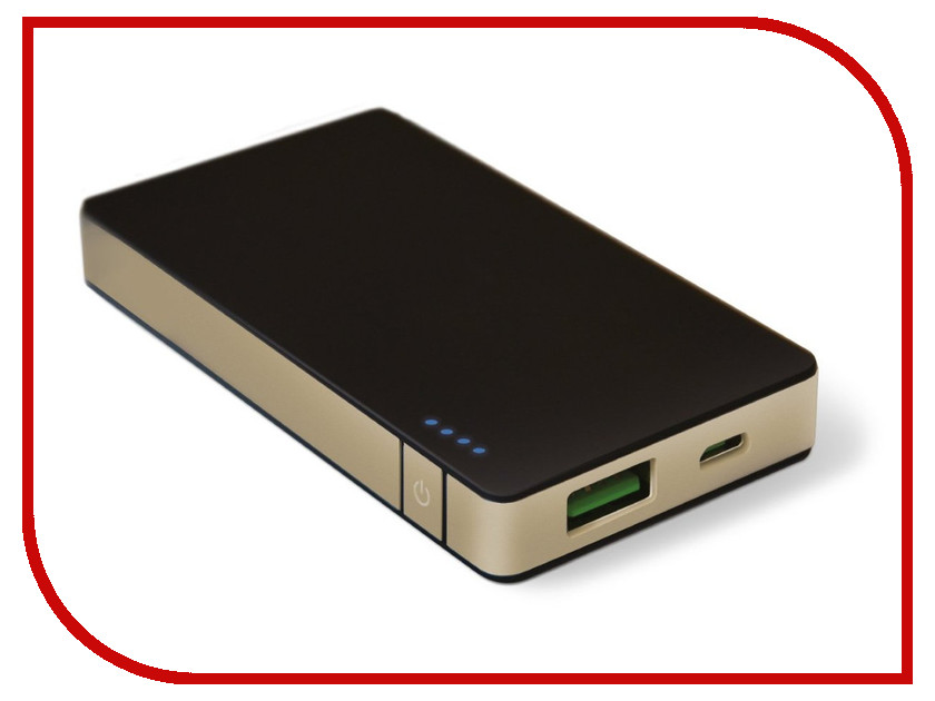 Аккумулятор Celly Power Bank 4000 mAh 1.5A Black-Gold PB4000ALUGD<br>